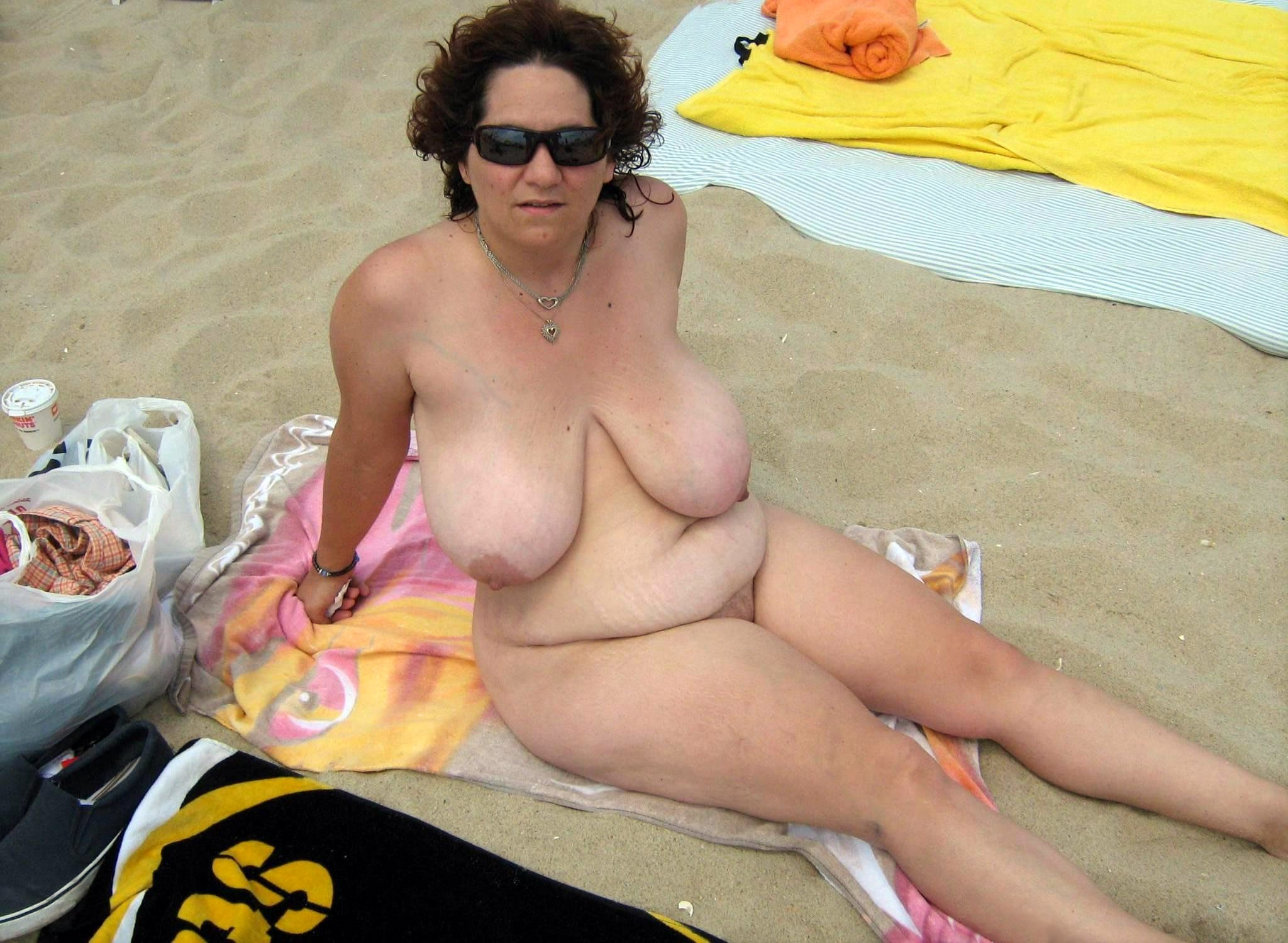 Black beach mature granny nude